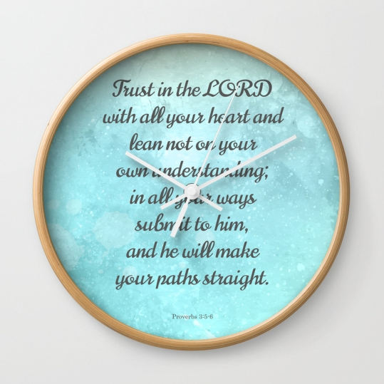 proverbs-35-6-encouraging-bible-quote-wall-clocks